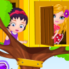 Baby Barbie Builds A Tree House