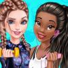 Elsa And Tiana Workout Buddies