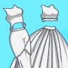 Elsa Crop Top Wedding Gown
